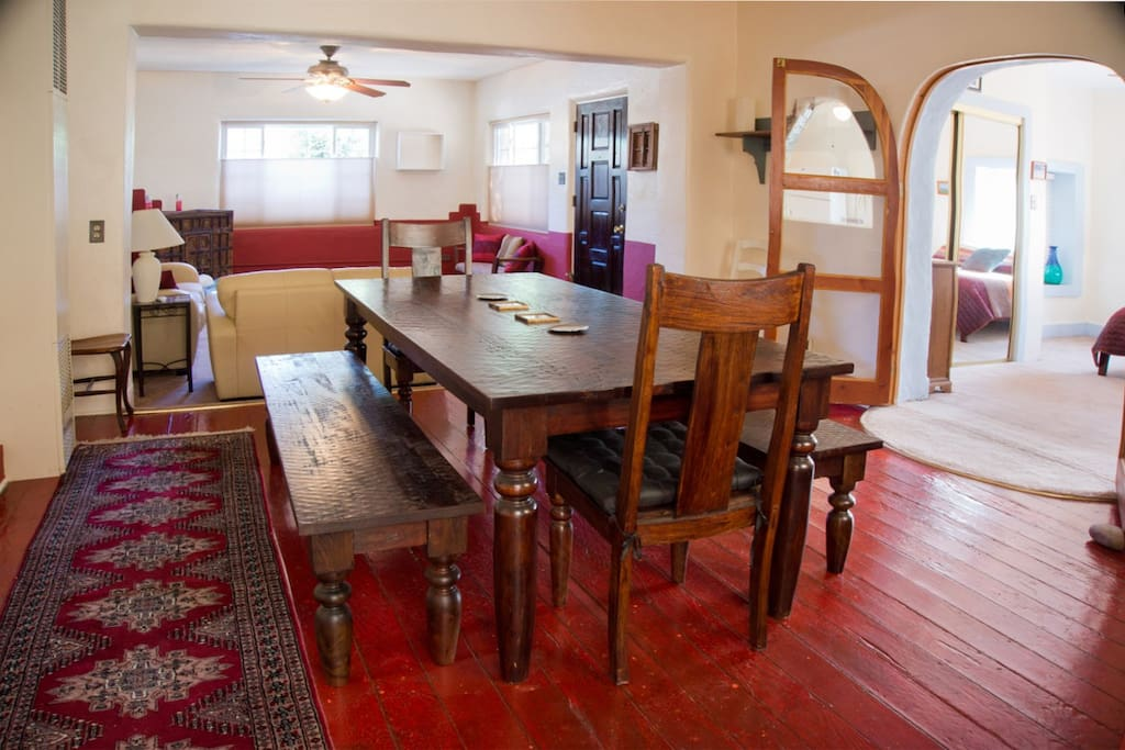 Dining room is open to living room and kitchen