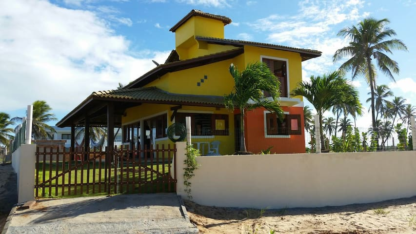 house with 2 free roons  front sea. - Praia de Porto do Sauipe - Rumah