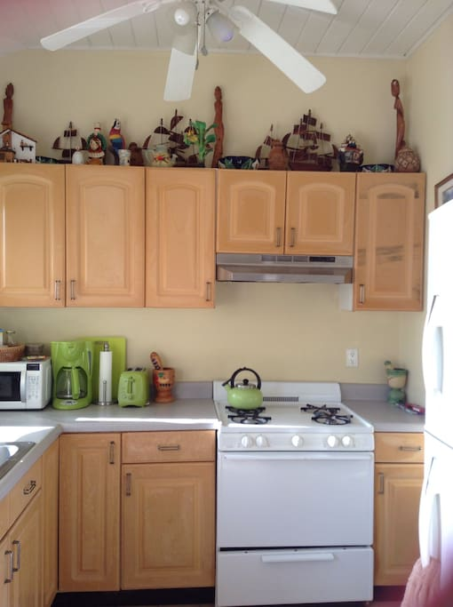 Kitchen was recently upgraded to granite counters and solid wood. New pics to come.