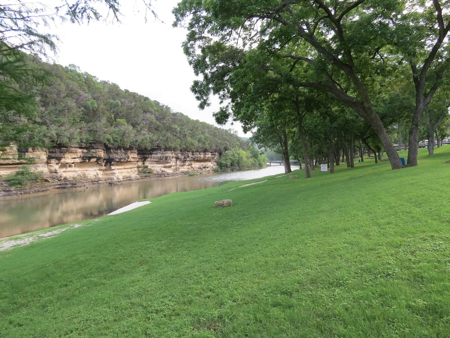 Another shot of the Guadalupe, looking downstream from the riverbank.