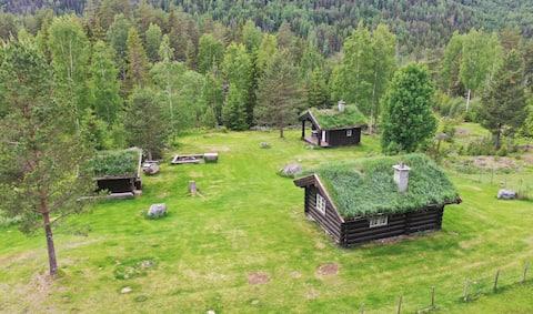 Idyllisk hyttetun, sentralt beliggende og usjenert