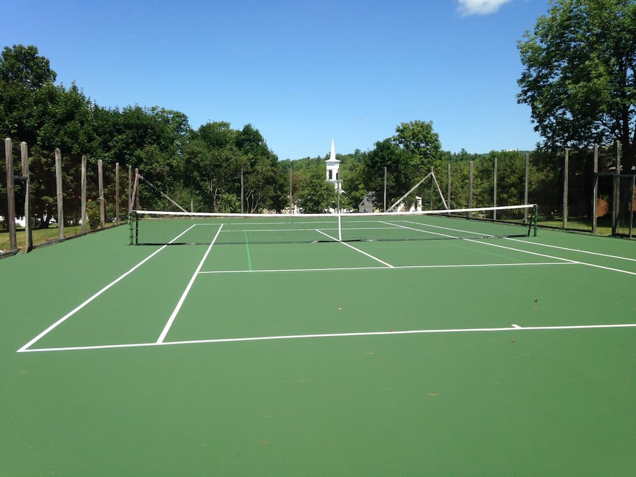 Tennis court available to all guests. Lines for both tennis and pickleball