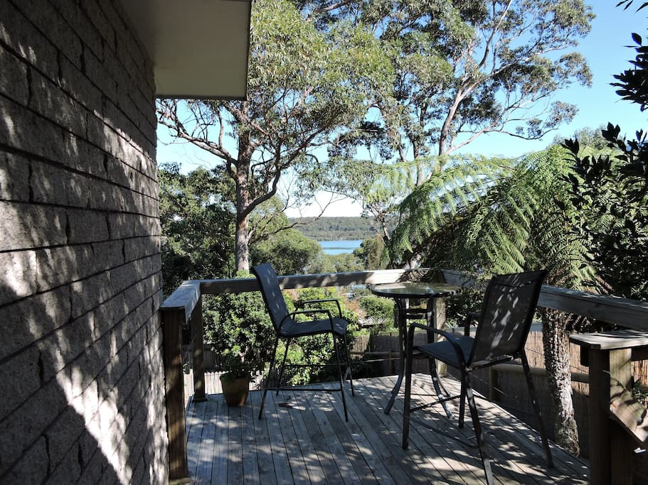 Enjoy the view over Tuross Lake from the back deck