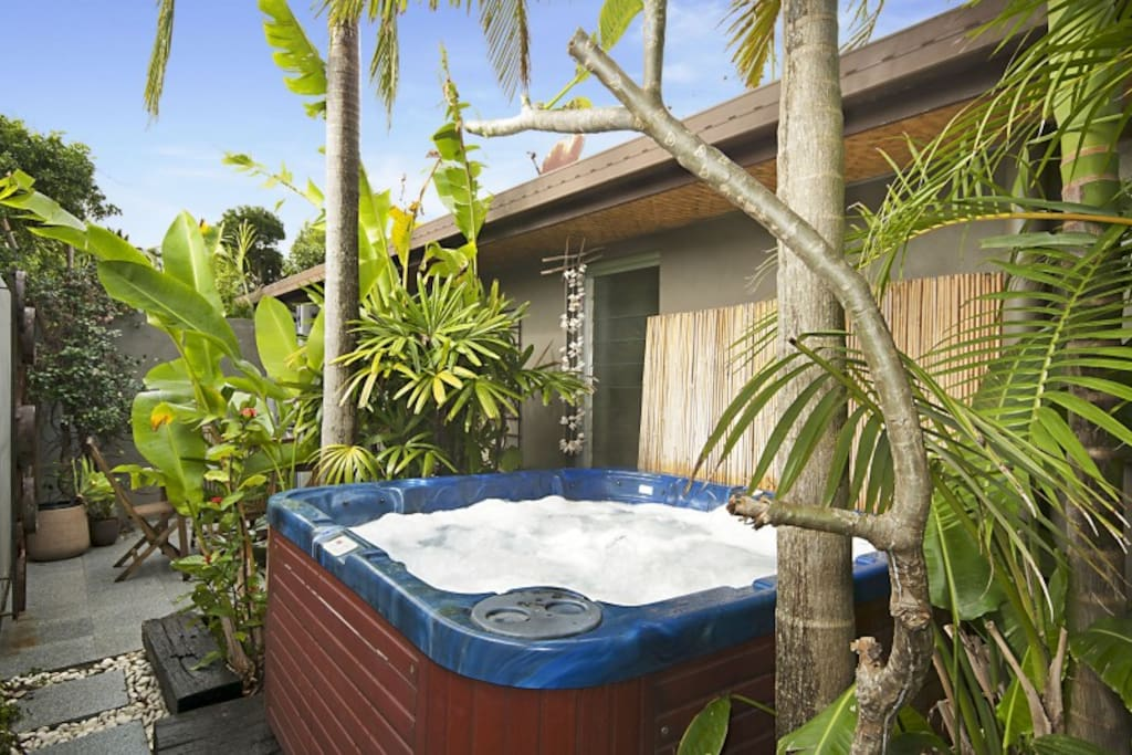 Exclusive outdoor spa