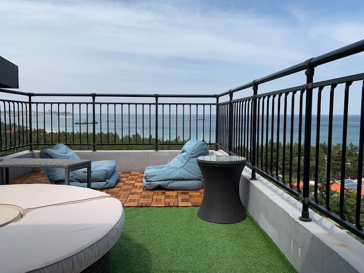 Ocean View(1Min), Private Rooftop,  Prozector