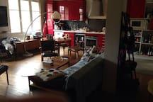 Family arty flat in Paris - 85 m2