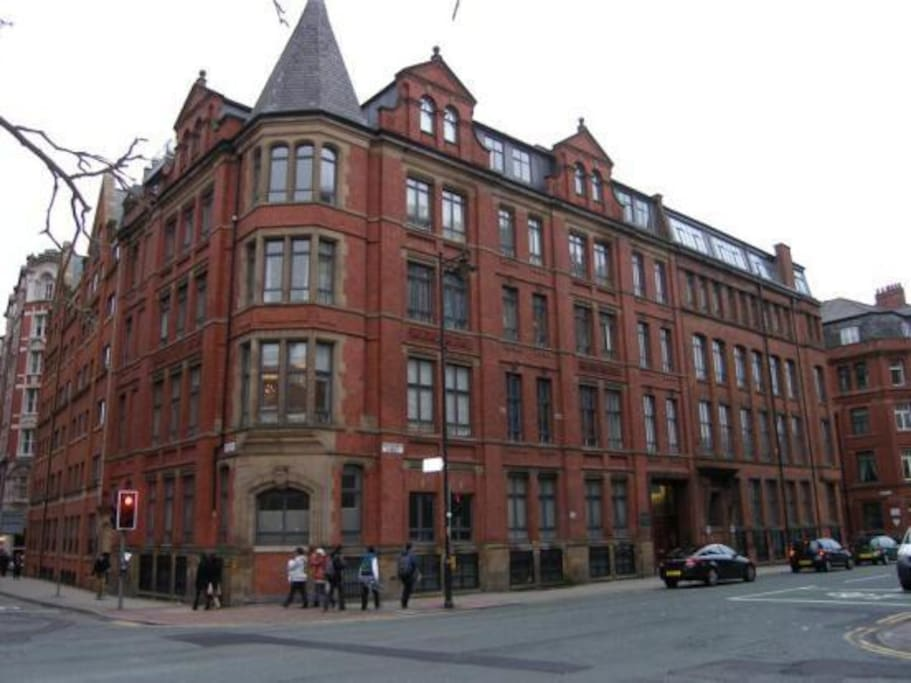 This is the Whitworth House building, and the major road junction.