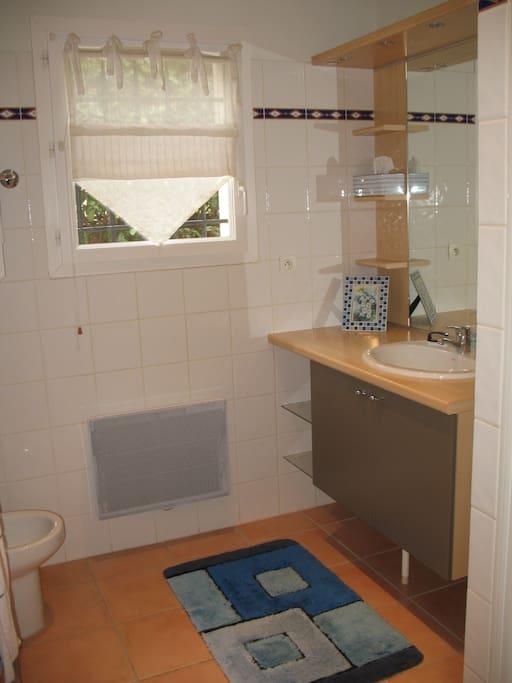 Salle de douche privée au Rez-De-Chaussée avec bidet