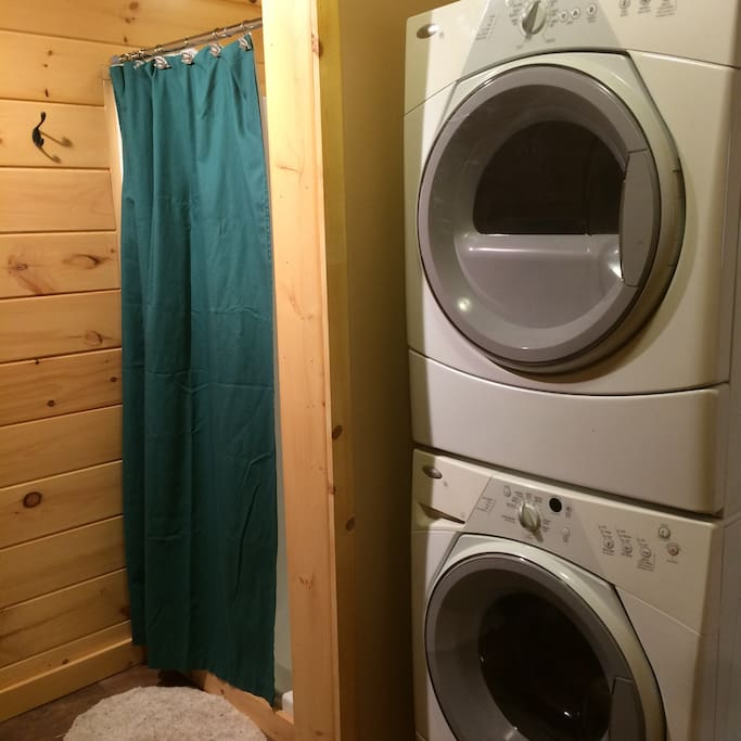 Washer & Dryer - Shower