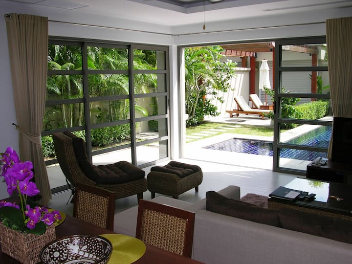 Luxury villa with private pool in resort with spa