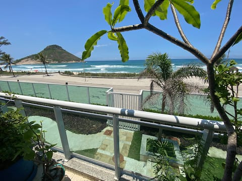 Beach front apartment with ocean view balcony!
