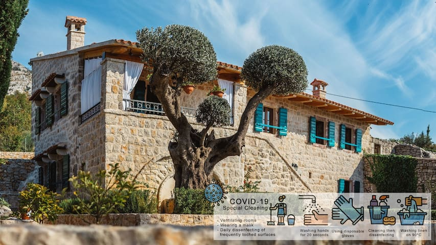 Traditional Montenegrin Old Stone Villa With Pool
