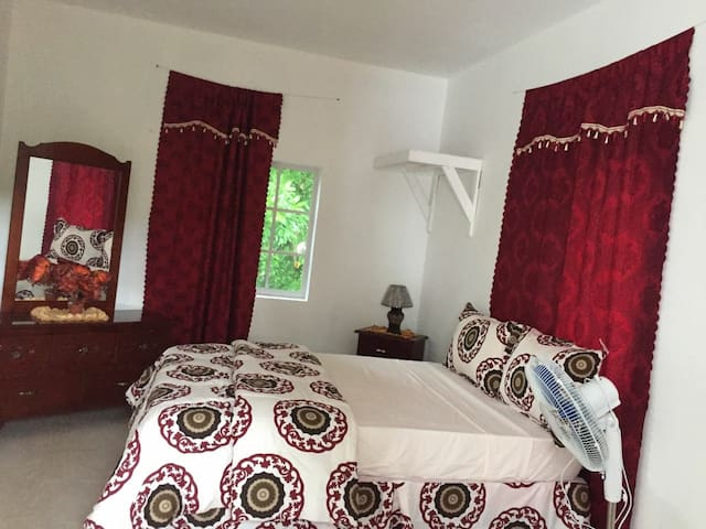 VIVIENNE'S #A4 KING SIZE BED TV+AC+WIFI, Negril rd