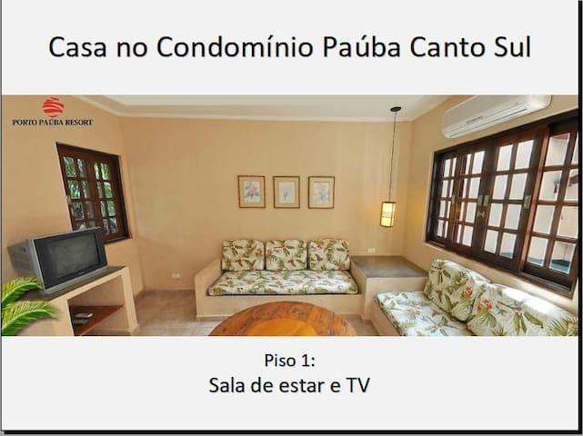 Chalé em condomínio fechado a beira-mar em Paúba!