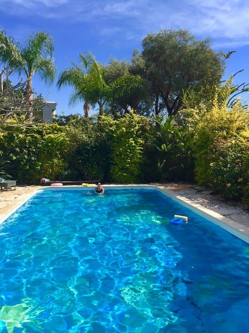 Lovely pool in use April to November.