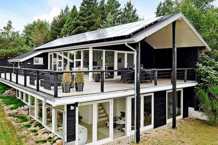 Modern Holiday Home in Brovst with Jacuzzi