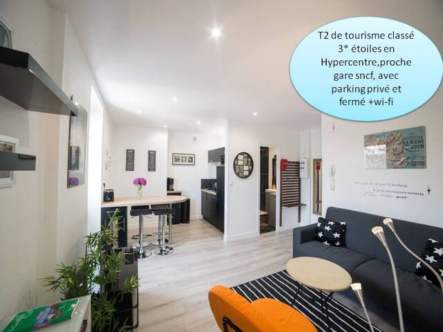 charming T2 rated 3 * with private parking. - Nantes - Daire