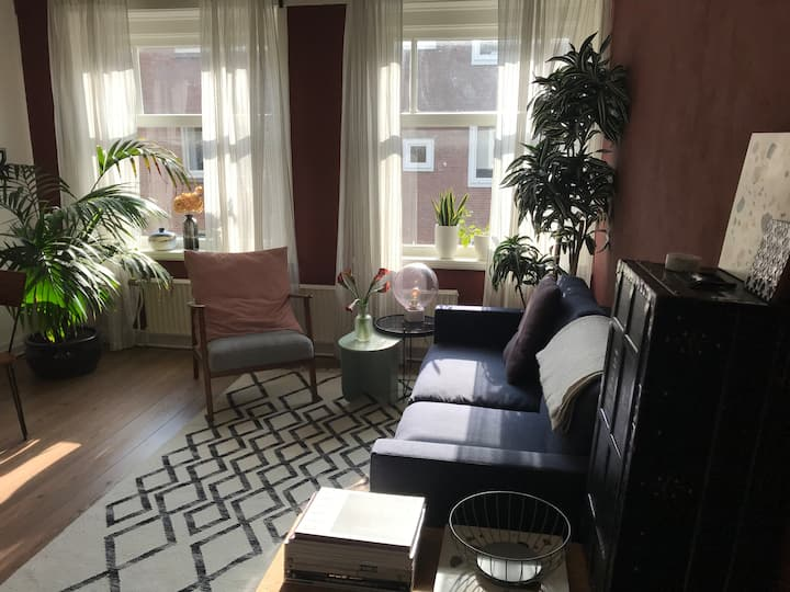 Sunny apartment & balcony in trendy De Pijp