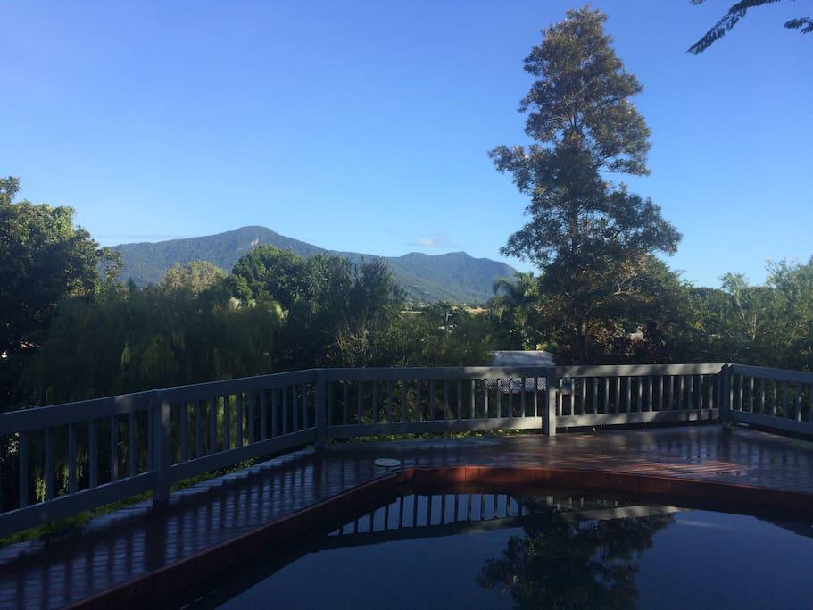 View from the deck to the Kuranda range.