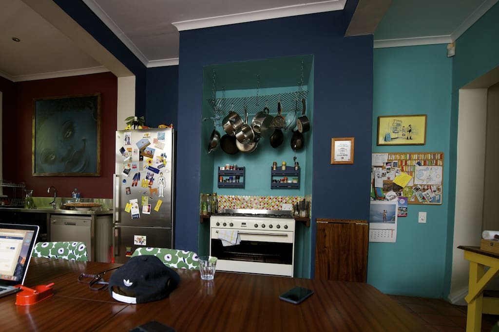 Colourful Kitchen with all the amenities