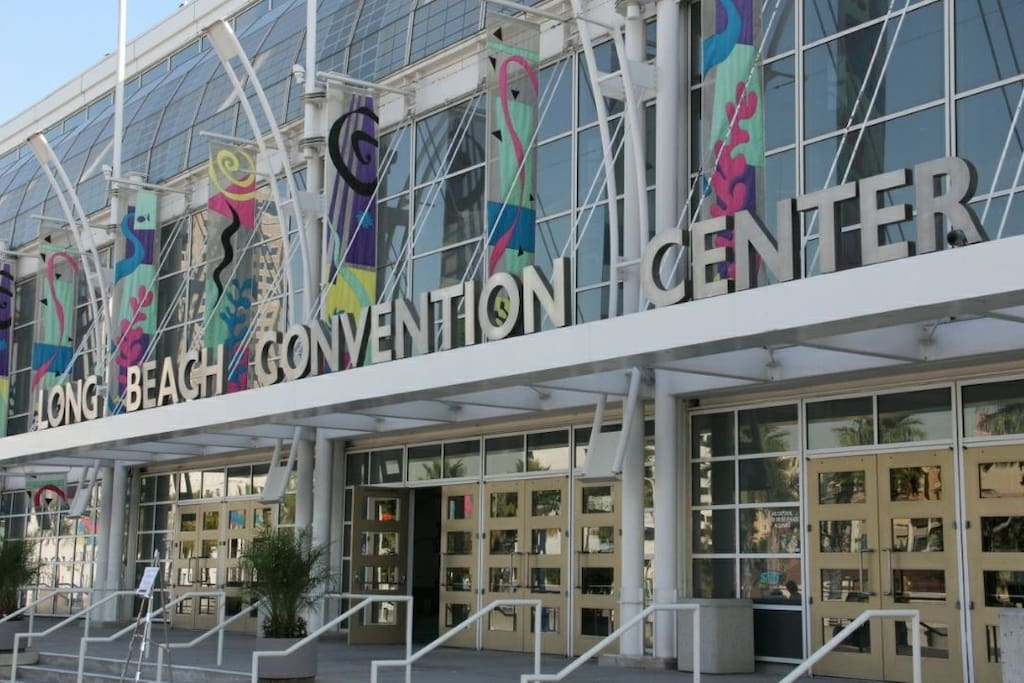 10min walk or 2min ride to the convention center