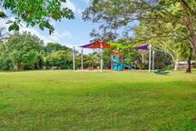 Playground behind house