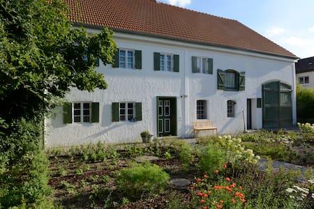 Moderner Wohnkubus in historischem Bauernhof - Apartament