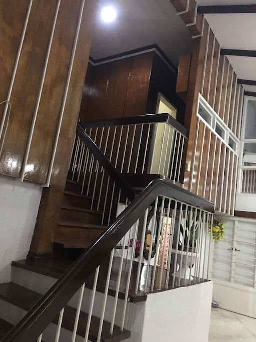 Easy to climb stairs where two bedrooms are located.