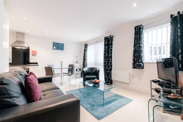 one bedroom executive apartment in Epsom centre.