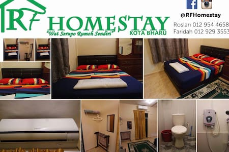 3 bedrooms (2 Aircon) + 2 toilets - Kota Bharu