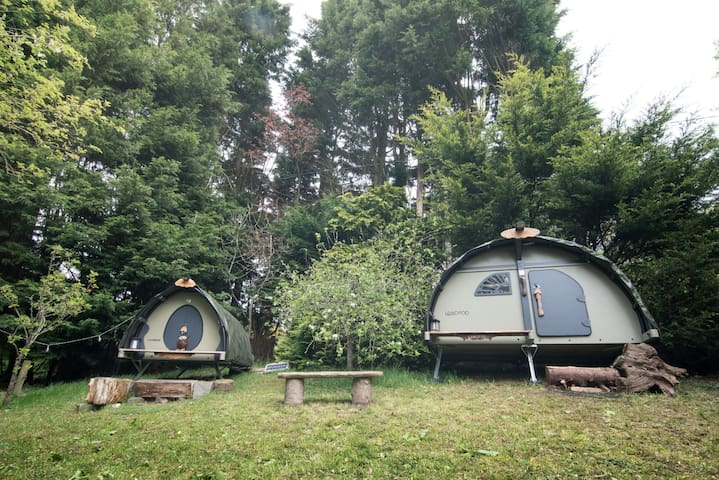 The Gwdihŵ Hideaway, unique Landpod glamping site