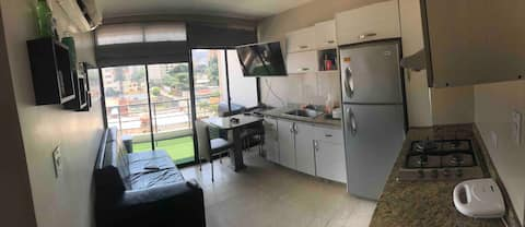 Studio apartment with all amenities 24/h