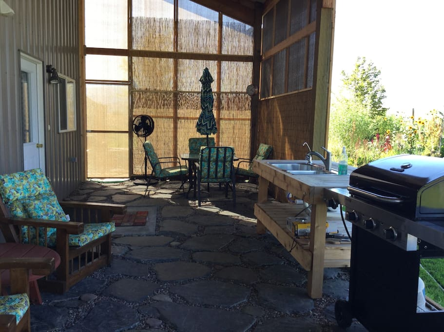 Patio Entrance/Outdoor Kitchen
