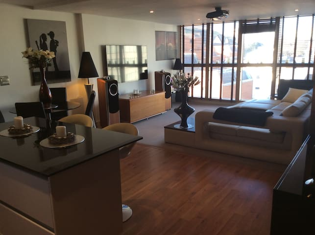 LUXURY LARGE 2 BED 2 BATH CANALSIDE Reading Centre - Reading - Daire