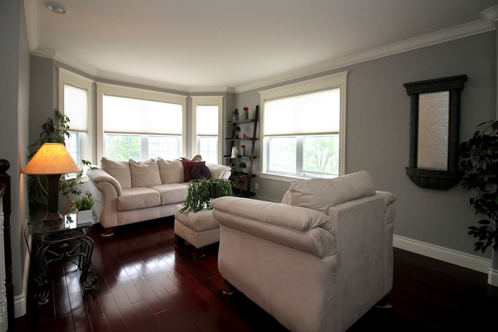 Middle Level Sitting Room with partial view of Halifax Harbour
