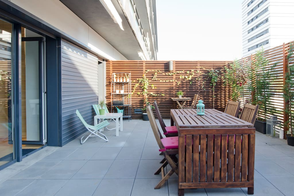Large private balcony to rest or having great meals