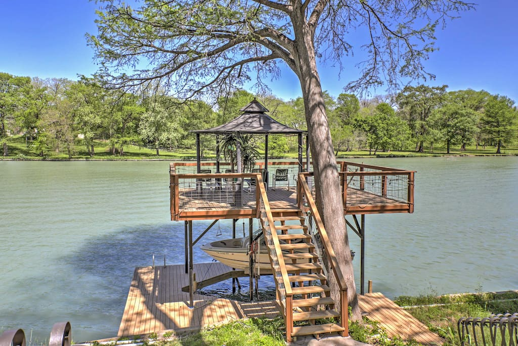 Soak up the sun from your private dock with shaded covering!
