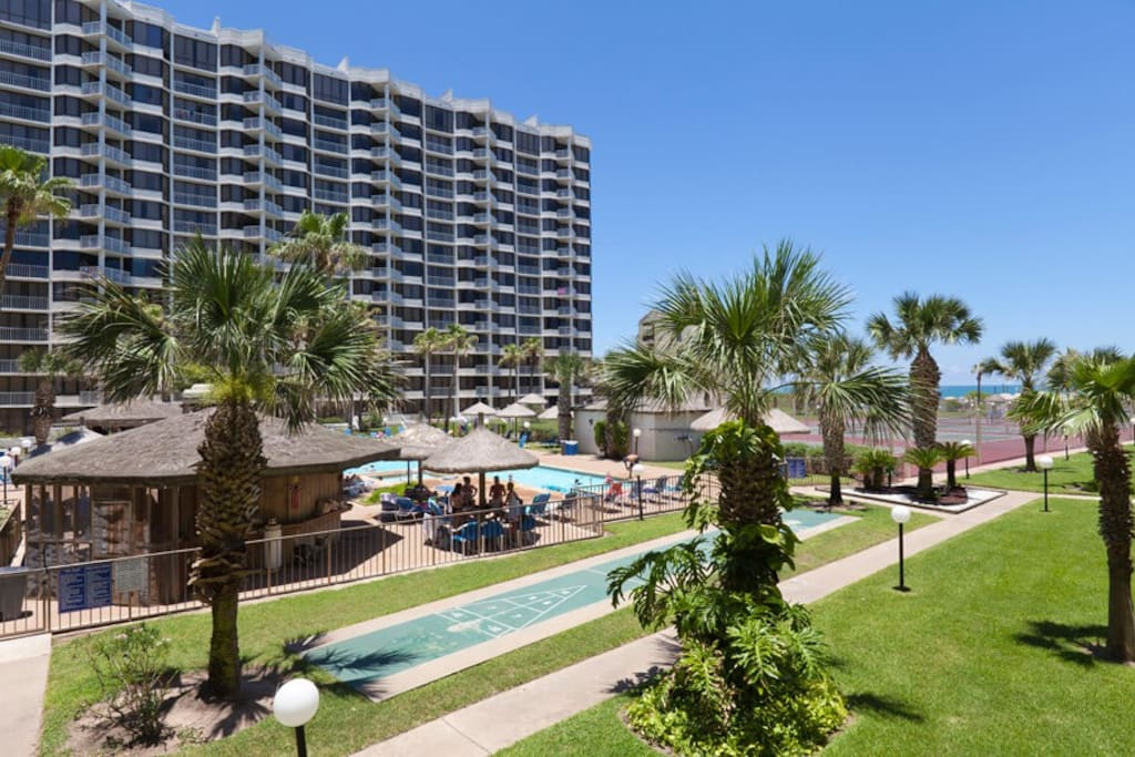 Enjoy easy access to the main pool and partial beach views.