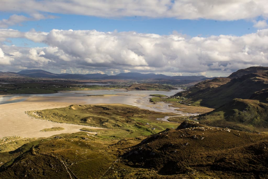 From  Slievetooey, the estuary with the tide out.