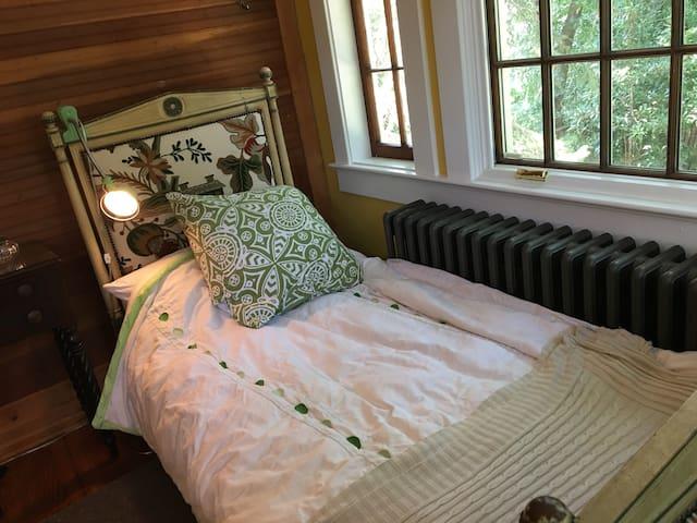 Small bedroom overlooking garden