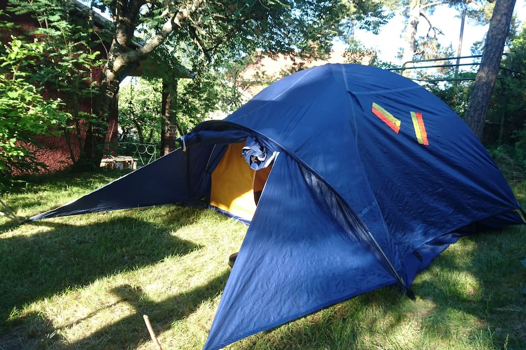 The tent will keep you dry if it rains, it's made of good materials.
