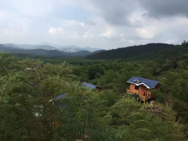 各大旅游景区环绕,位于自行车骑行公园内特色山体木屋住房 - Wuxi