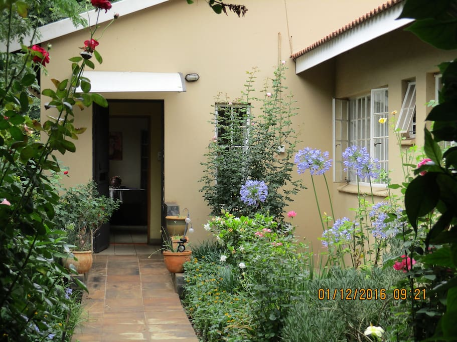 We have a beautiful garden that adds to the tranquility of our home, and provides a scented wonderland.