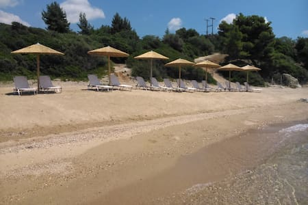 Red Coral Apartments, 50m from the beach - Paralia Vatopediou - Apartment
