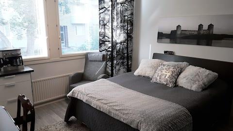 Studio apartment next to Olavinlinna castle