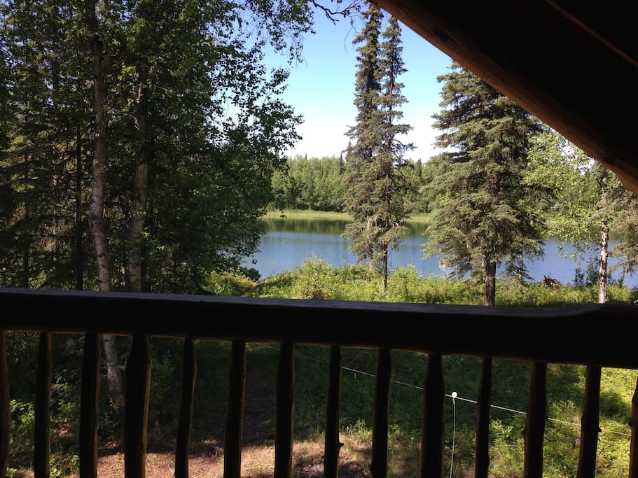 View of pond from the upstairs deck