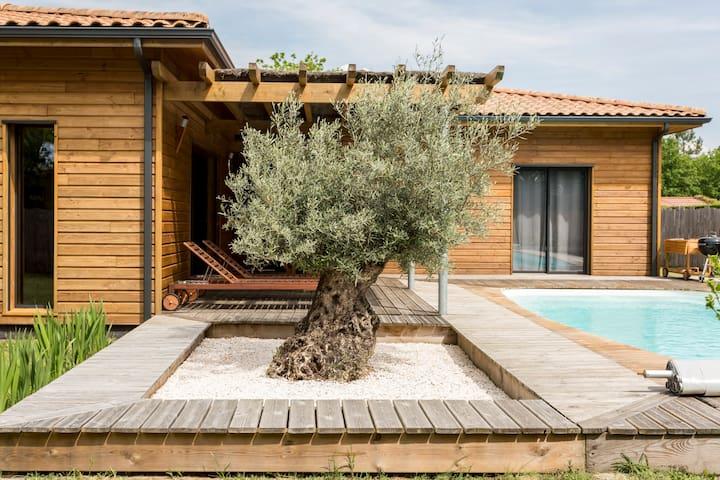 Villa bois piscine chauffée à LEGE CAP FERRET - Lège-Cap-Ferret - Villa