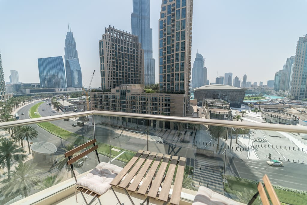Boulevard, Burj, Opera District & Fountain View from the terrace.