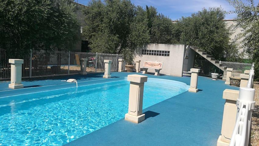 Charmant loft lumineux avec piscine