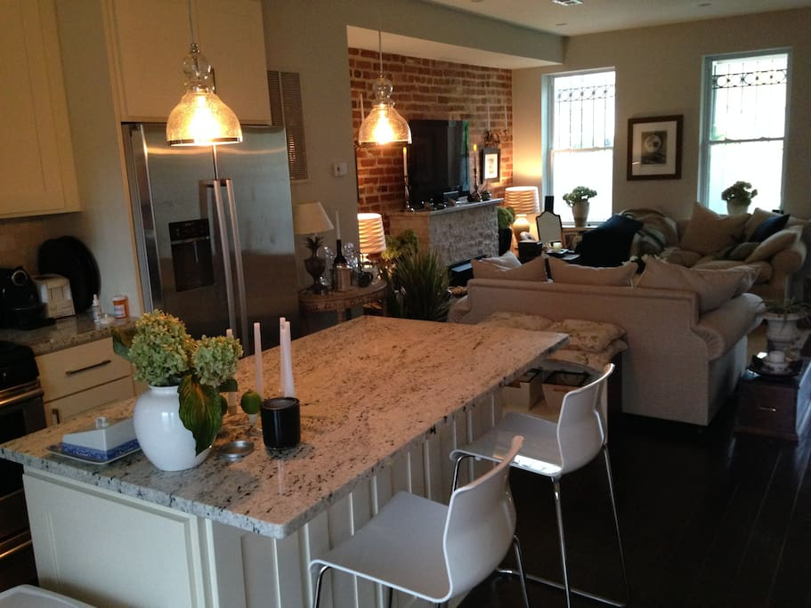 Kitchen marble counter top